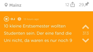 Jodel Post mit Text